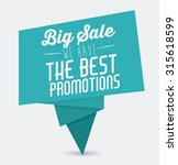 promotions and discounts ... | Shutterstock .eps vector #315618599