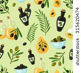 natural olive seamless pattern... | Shutterstock . vector #315620474