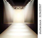 empty fashion runway podium... | Shutterstock . vector #315620507