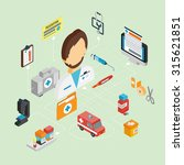 medical concept with isometric... | Shutterstock . vector #315621851