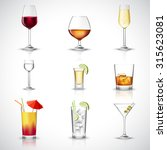 alcohol drinks in realistic... | Shutterstock . vector #315623081