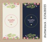vector floral background.... | Shutterstock .eps vector #315628355