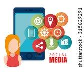 social media entertainment... | Shutterstock .eps vector #315629291