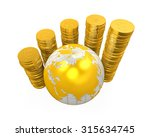 gold coins currency around a...   Shutterstock . vector #315634745