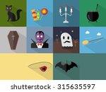 halloween icons | Shutterstock .eps vector #315635597