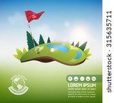 golf ball vector concept golf...   Shutterstock .eps vector #315635711
