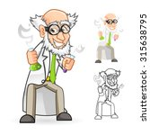 high quality scientist cartoon... | Shutterstock .eps vector #315638795