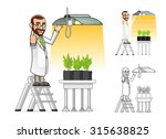 high quality plant scientist... | Shutterstock .eps vector #315638825