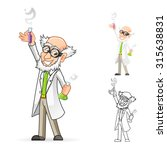 high quality scientist cartoon... | Shutterstock .eps vector #315638831