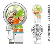 high quality plant scientist... | Shutterstock .eps vector #315638855