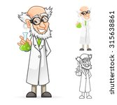 high quality scientist cartoon... | Shutterstock .eps vector #315638861