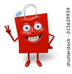 a red shopping bag in the...   Shutterstock . vector #315639959