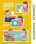 customer pet service... | Shutterstock .eps vector #315649427