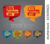 vector   big clearance sale... | Shutterstock .eps vector #315650621