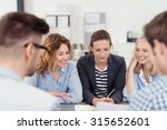 five young office people... | Shutterstock . vector #315652601