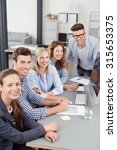 five young office workers... | Shutterstock . vector #315653375