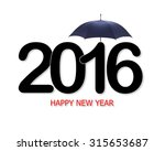 happy new year 2016 text design ... | Shutterstock . vector #315653687