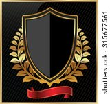 shield with a golden frame | Shutterstock .eps vector #315677561