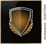 shield with a golden frame | Shutterstock .eps vector #315677564