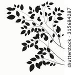 beautiful tree silhouette on a... | Shutterstock .eps vector #315684287