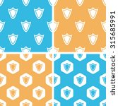 shield pattern set  simple and...