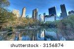 Pond In Central Park  New York...
