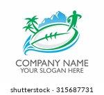 rugby league ball sports logo... | Shutterstock .eps vector #315687731