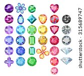 set of colored gems isolated on ... | Shutterstock .eps vector #315689747