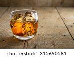 Lone Glass Of Whisky Bourbon O...