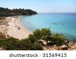 koviou beach in sithonia ... | Shutterstock . vector #31569415