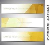 web banner modern low polygon... | Shutterstock .eps vector #315698315