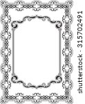the ornate nice frame is on... | Shutterstock .eps vector #315702491