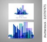 eco city   logo. template... | Shutterstock .eps vector #315707471
