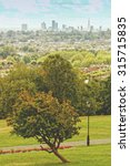 Small photo of Alexandra park view and London city skyline in the background