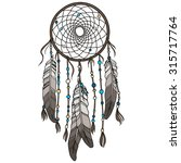 native american indian dream... | Shutterstock .eps vector #315717764
