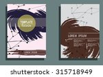 creative cards with hand drawn ... | Shutterstock .eps vector #315718949