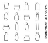 cosmetic bottles. isolated on... | Shutterstock .eps vector #315720191