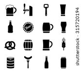 beer vector icons set | Shutterstock .eps vector #315720194
