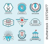 set of university and college... | Shutterstock .eps vector #315726077