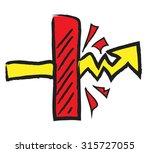 doodle abstract breakthrough ... | Shutterstock .eps vector #315727055
