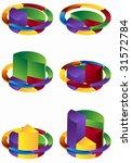 tiered arrow pie chart set  ... | Shutterstock .eps vector #31572784