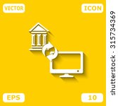 internet banking icon | Shutterstock .eps vector #315734369