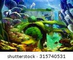 Illustration  Underwater World...