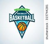 basketball golden logo template ... | Shutterstock .eps vector #315744281