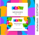 messages   logo. the idea for... | Shutterstock .eps vector #315747269