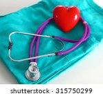 a stethoscope shaping a heart... | Shutterstock . vector #315750299