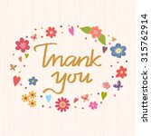thank you. bright romantic card ... | Shutterstock .eps vector #315762914