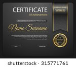 vector certificate template. | Shutterstock .eps vector #315771761