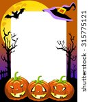 halloween photo frame scary... | Shutterstock .eps vector #315775121