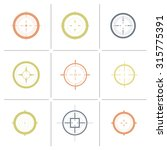 collection of vector targets.... | Shutterstock .eps vector #315775391